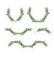 decorative element set eucalyptus round wreaths vector image vector image