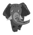design with a a cute and friendly elephant vector image vector image
