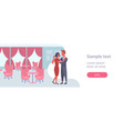 elegant couple dancing together man woman lovers vector image