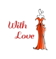 Elegant Valentines card for a loved one vector image vector image