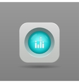 Equalizer button vector image