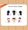 Find the correct shadow education game for vector image vector image