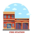 Fire station or department for firefighters vector image vector image