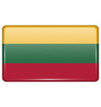 Flags Lithuania in the form of a magnet on vector image vector image