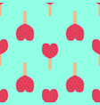 fruit ice cream seamless pattern vector image vector image