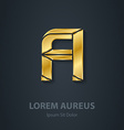 graphic elegant gold font letter a template vector image vector image