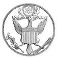 great seal united states vintage vector image vector image