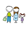 happy family drawing isolated icon design vector image vector image