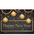 happy new year 2020 gold and black vector image