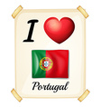 I love Portugal vector image vector image