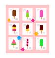 ice cream menu icon flat isolated vector image vector image