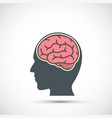icon human head with a brain vector image vector image