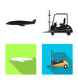 isolated object of goods and cargo icon vector image vector image