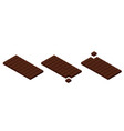 isometric chocolate bars and pieces vector image vector image