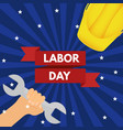 labor day poster eps10 vector image