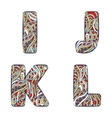 Letters I J K L Set colorful alphabet of vector image