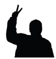 man silhouette peace vector image vector image