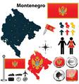 Map of Montenegro vector image
