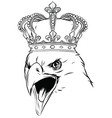 mascot with crowned american eagle vector image vector image