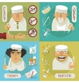 medicine doctor flat icons