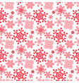 monochrome seamless christmas pattern with red vector image vector image