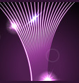 neon glowing laser wavy lines abstract background vector image