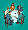 occult seance people at the table vector image