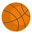 orange basketball ball icon isolated vector image vector image