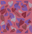 pink nature pattern vector image vector image