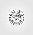 pizza house bread line art logo minimalist design vector image