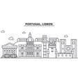 portugal lisbon architecture line skyline vector image vector image