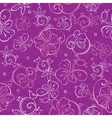 Purple Nature Swirls Seamless Pattern vector image vector image