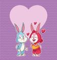 rabbit couple in love vector image