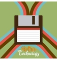 Retro and vintage technology graphic vector image