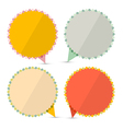 Retro Empty Stickers - Labels Set Isolated on vector image vector image