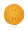 round biscuit crackers vector image