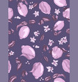 seamless pattern in violet and purplre colors vector image