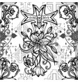 seamless pattern with fantasy crosses 1 vector image vector image