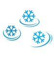 set of snowflake icons vector image