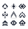 Set of trendy hipster geometric shapes Geometric vector image