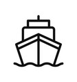 ship icon in modern design style for web site and vector image vector image