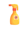 sprayer bottle of mite or tick insecticide cartoon vector image vector image