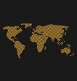 striped world map vector image vector image