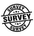 Survey round grunge black stamp