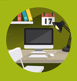 table office vector image vector image