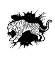 tiger cartoon logo graphic vector image vector image