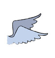 wing feather bird angel icon vector image vector image