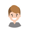 young man smiling vector image vector image