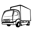 Delivery truck symbol vector image