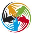 teamwork hands icon vector image